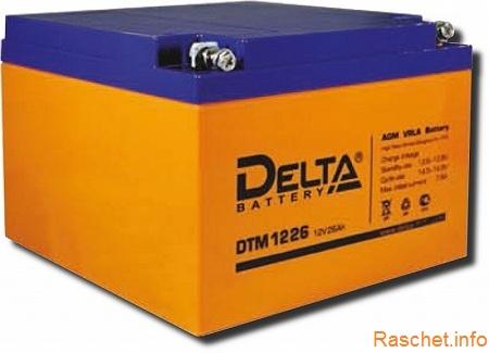 Изображение аккумуляторной батареи DELTA DTM 1226