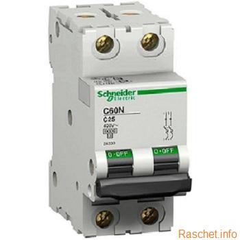 Показан автоматический выключатель IC60N