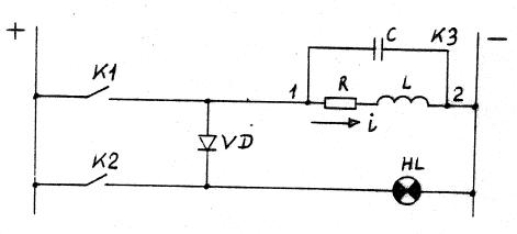 Рис.3 - Цепи, в которых разделяющий диод VD может подвергаться воздействию коммутационных перенапряжений