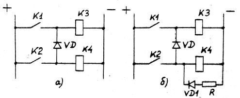 Рис.П-1а - пример выбора защитных диодов