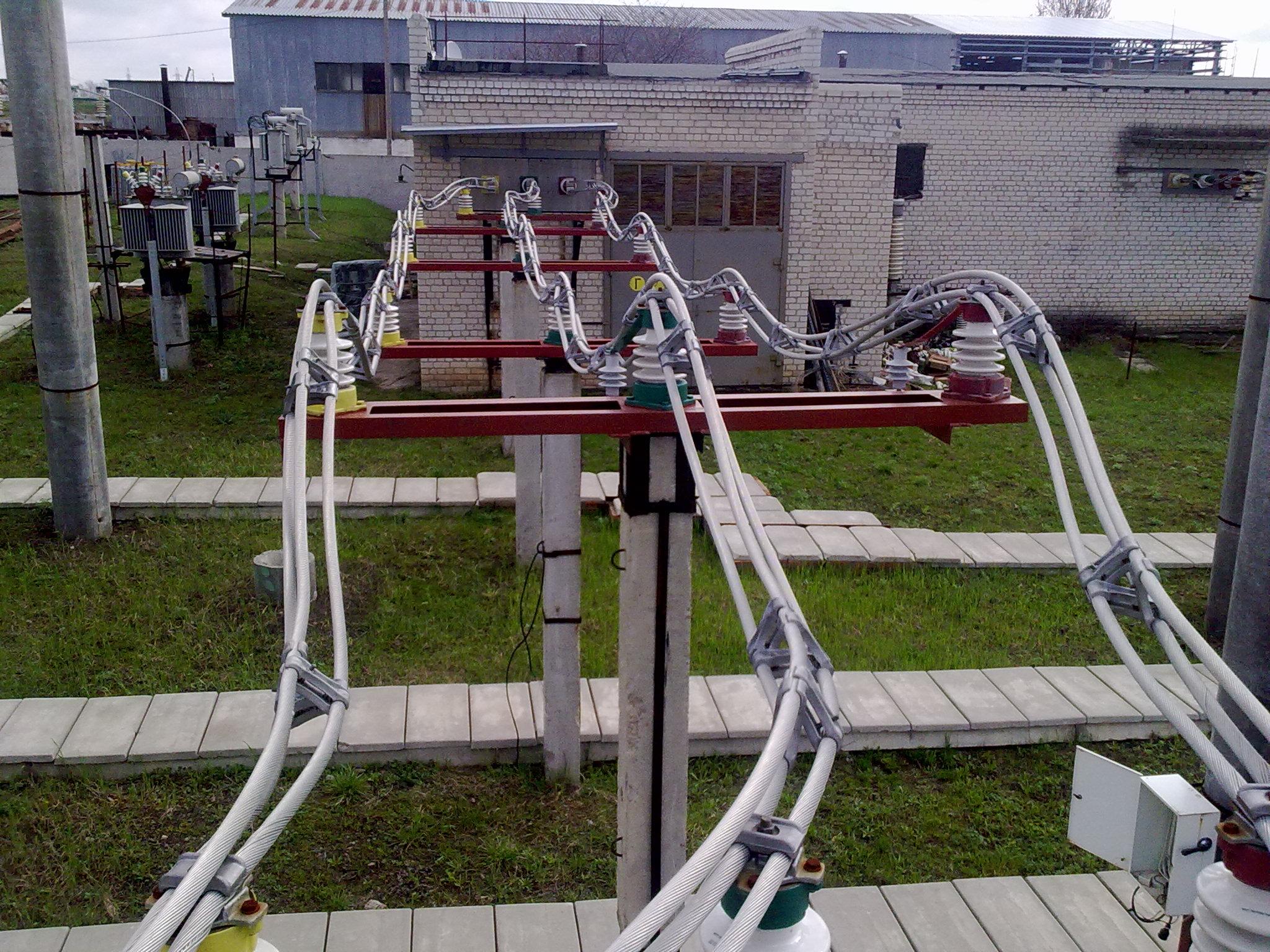 Рис.1 – Шинный мост выполненный проводами 3хАС 300/39