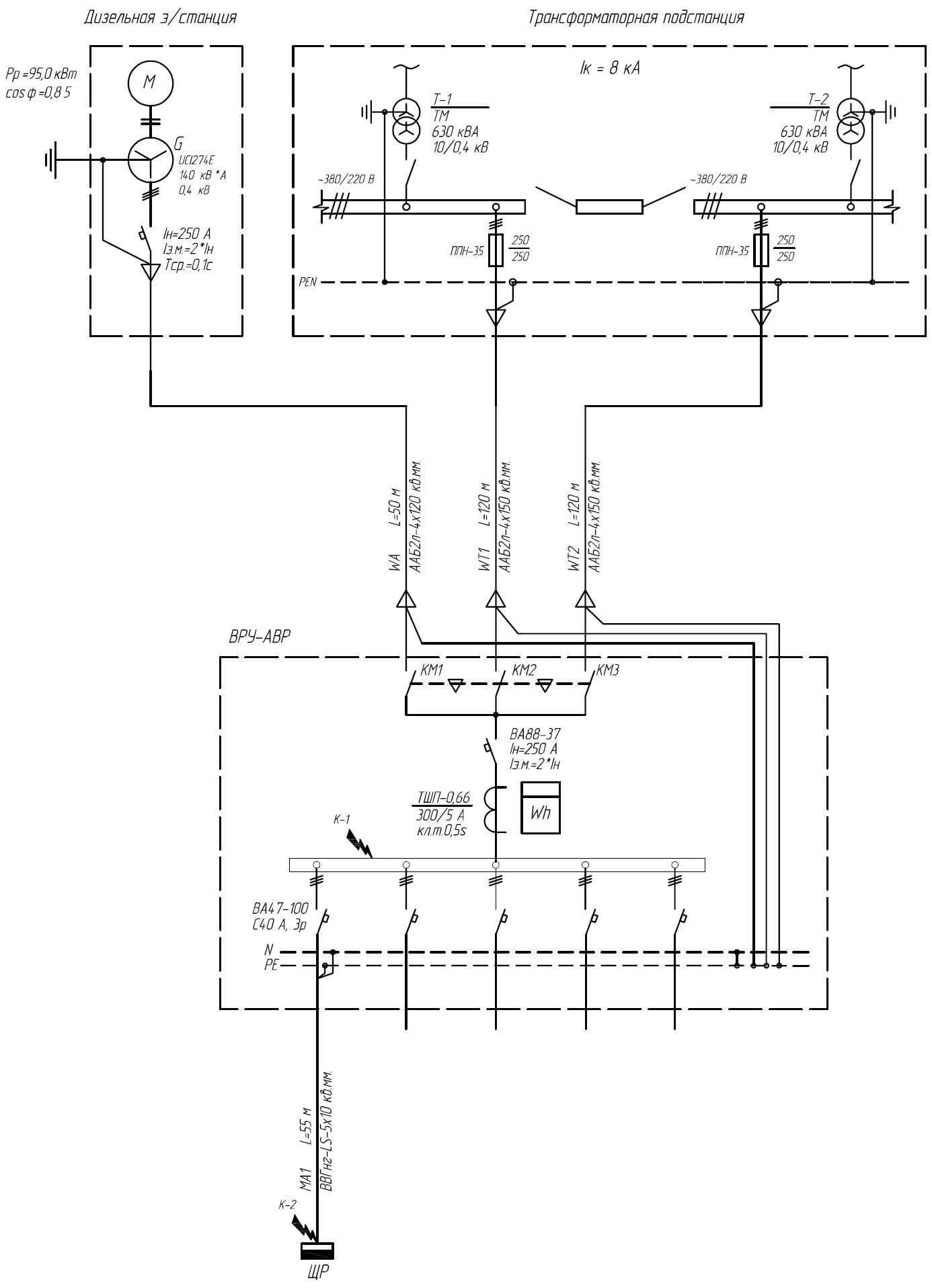Рис.1. Принципиальная электрическая схема