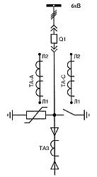 Рис.1 –Схема главных цепей шкафа КРУ