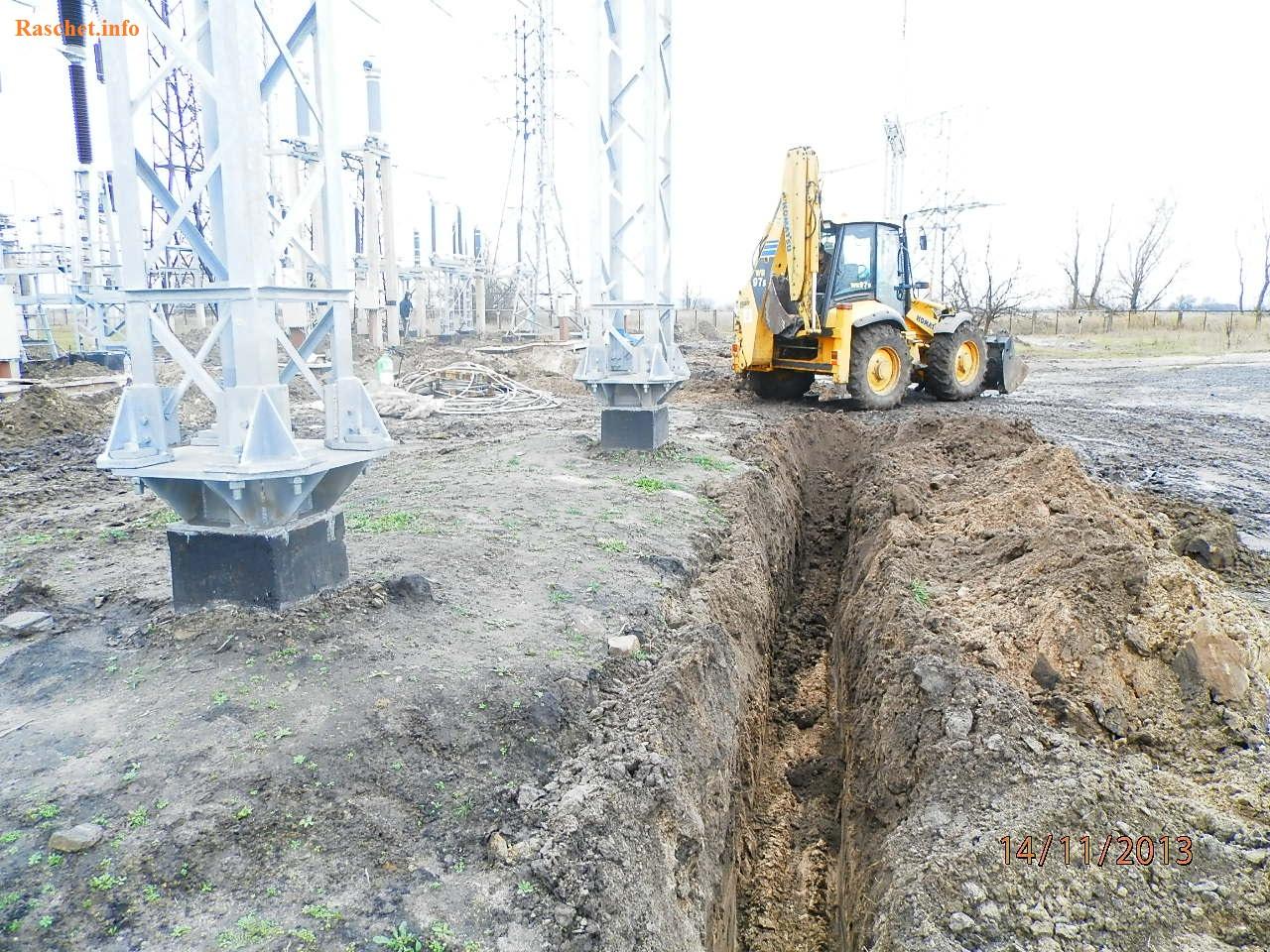 Строительство заземляющего устройства подстанции