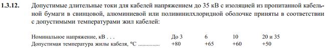 Пункт 1.3.12 ПУЭ