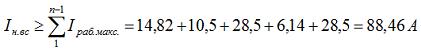 4.1 Определяем наибольший номинальный длительный ток