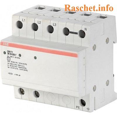 Трехполюсное устройство OVR T1 3L 25 255 TS