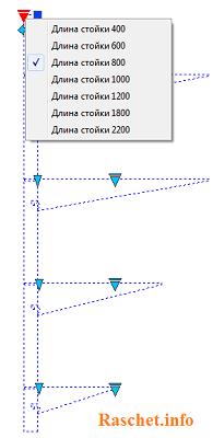Динамический блок кабельной стойки и полки с изменением длины стойки