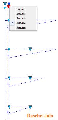 Динамический блок кабельной стойки и полки с изменением количества полок