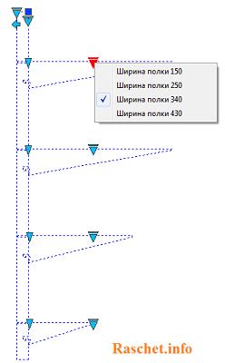 Динамический блок кабельной стойки и полки с изменением длины полок
