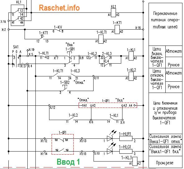 Схема АВР ввода 1