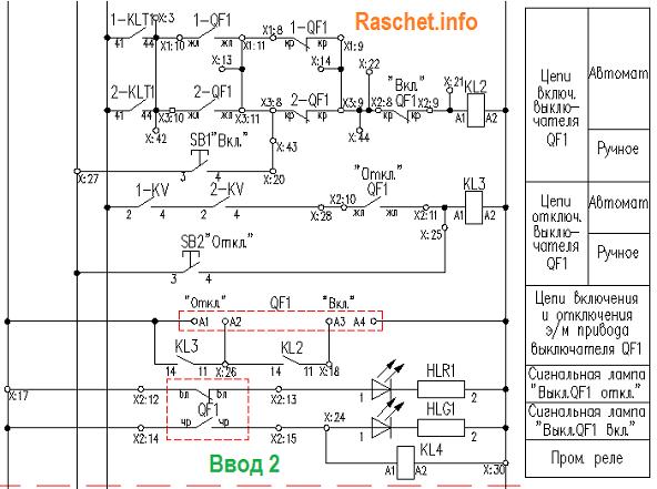 Схема АВР ввода 2