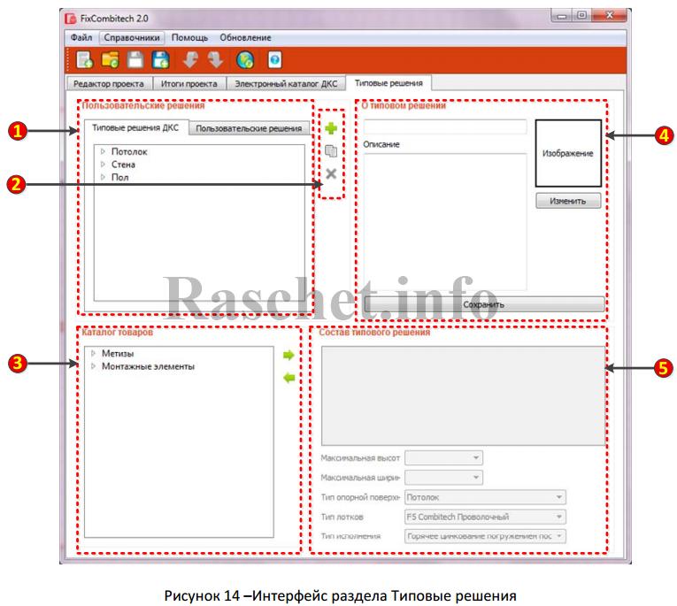 Рисунок 14 - Интерфейс раздела типовые решения