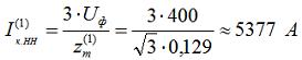 1.5 Определяем ток однофазного к.з. за трансформатором, на стороне 0,4 кВ по формуле представленной на рис.24