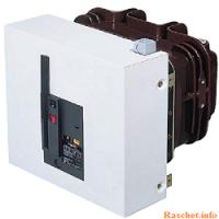 Схема со световым контролем цепей управления выключателя 6(10) кВ