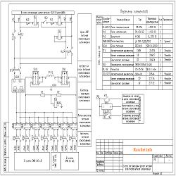 Схема питания оперативной блокировки разъединителей в формате dwg