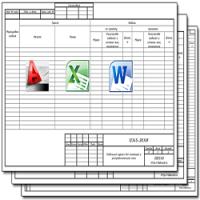 Образец кабельного журнала в Excel
