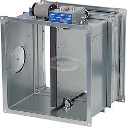 Схема управления огнезадерживающим клапаном КПУ-1Н с электромагнитным приводом в формате dwg