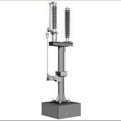 Чертеж установки ОПН в нейтрали силового трансформатора 110 кВ