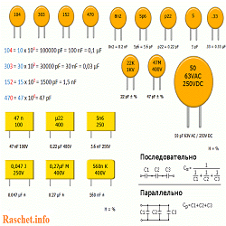 Программа для определения емкости конденсатора по цифровой маркировке