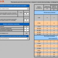 Программа расчета количества и мощности включения речевых оповещателей
