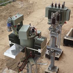 Чертеж установки трансформатора типа TEGE к ДГР  в формате dwg
