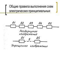 Общие требования при выполнении схем