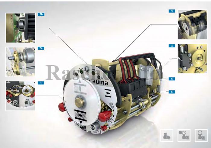 Электромеханический блок выключателей задвижки AUMA