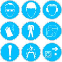 Предписывающие знаки безопасности по ГОСТ 12.4.026-2015 в формате dwg