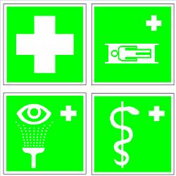 Указательные и медицинские знаки безопасности в формате dwg