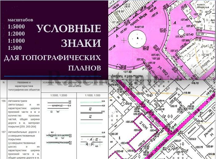 Динамические блоки для топографических планов в формате dwg