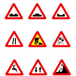 Знаки дорожные по ГОСТу в DWG
