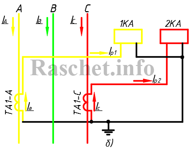 Схема неполной звезды ТТ