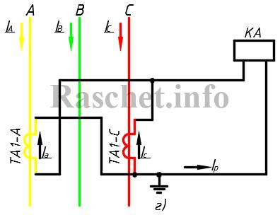 Схема неполного треугольника ТТ