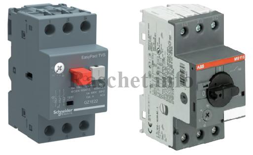 Автоматы защиты двигателя GZ1E03 и MS116-0,63