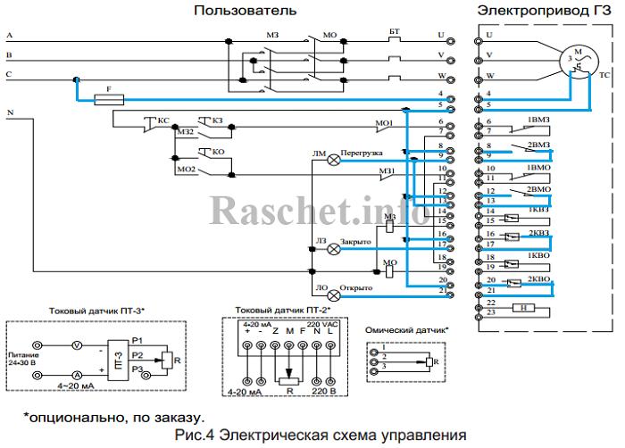 Рекомендуемая схема подключения электропривода ГЗ с изменениями