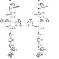 Распределение защит по ТТ для схемы №110-4Н