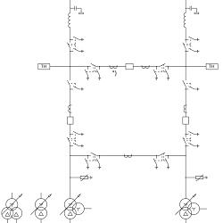 Распределение защит по ТТ для схемы №110-5AН