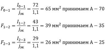 Определяем сечение проводов