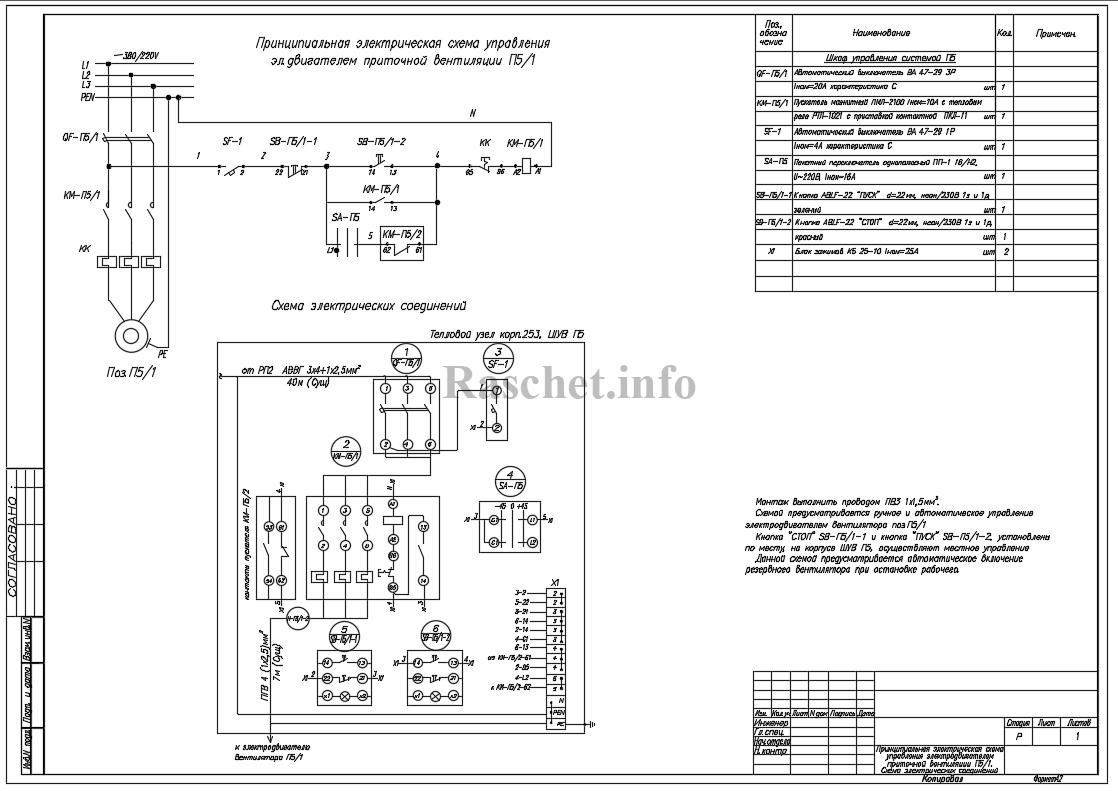 Схемы управления приточными вентиляторами