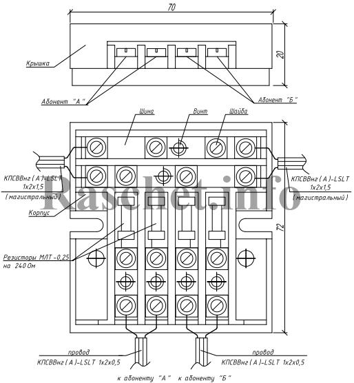 Коробка РОН-2 в формате dwg